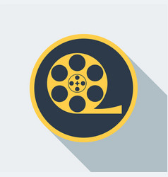 Cinema type icon vector