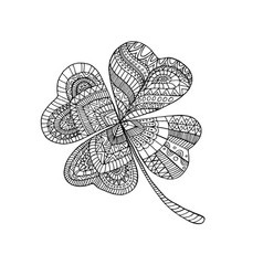 coloring book clover on st patrick s day vector image