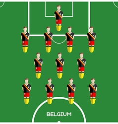 Computer game Belgium Football club player vector