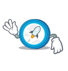Crazy stellar coin character cartoon vector