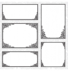 decorative frame set and pattern vector image