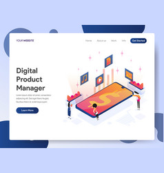 digital product manager isometric concept vector image