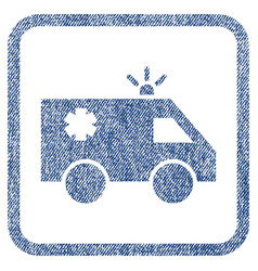 Emergency car fabric textured icon vector