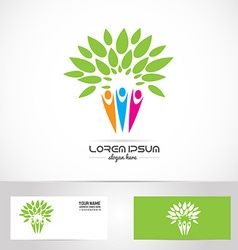Faimily tree logo vector image