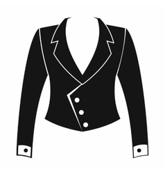 Female jacket icon simple style vector