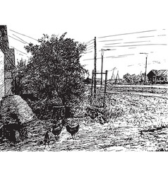 Figure village vector