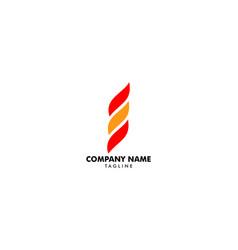 fire flame logo design template vector image