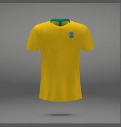Football kit of brazil vector