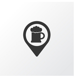 Geolocation of beer icon symbol premium quality vector