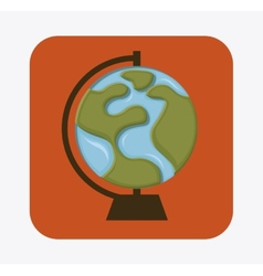 Globe earth design vector