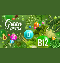green day color diet detox healthcare vector image