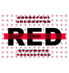 Grunge modern bold font and alphabet vector