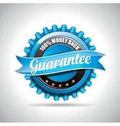 Guarantee Labels with shiny styled design vector image