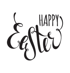 Happy easter handwriting ink inscription vector