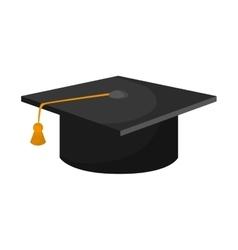 Hat cloth graduation cap design vector