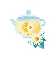 herbal tea vitamin healthy drink with lemon vector image
