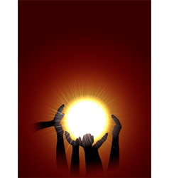 holding sun vector image