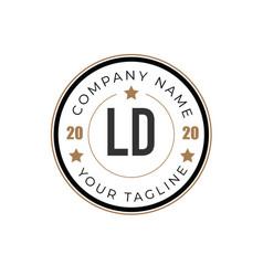 initial letter ld elegance logo design template vector image