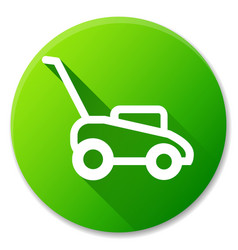 Lawn mower circle icon design vector