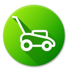 Lawn mower circle icon design vector