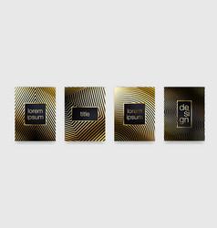 luxury gold pattern background geometric golden vector image