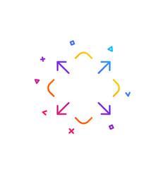 Maximize arrow line icon full screen sign vector
