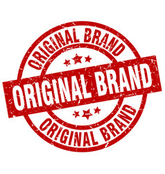 original brand round red grunge stamp vector image