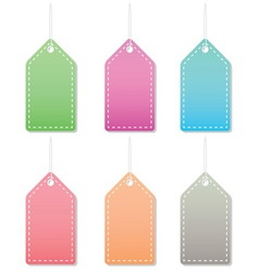 Pastel label tags vector