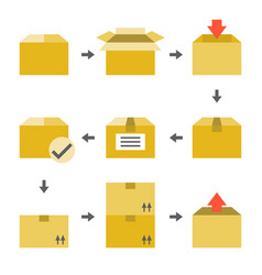 pictogram of delivery icons set vector image