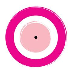 Pink evil eye on white background vector