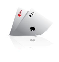 pocket aces vector image