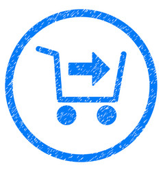 Purchase cart rounded grainy icon vector