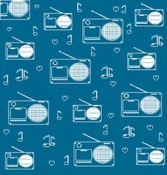 radio vintage vector image
