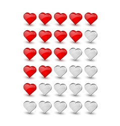 Rating hearts vector image