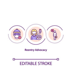 Reentry advocacy concept icon vector