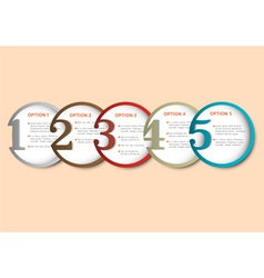 Round numbered banners for Infographics vector image