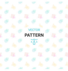 Seamless pattern with circles square triangle an vector