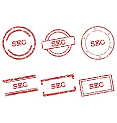 SEO stamps vector image