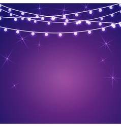 set Electric purple lighting vector image