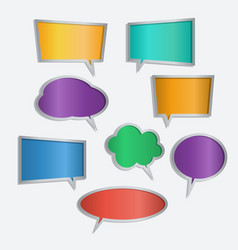 set of color speech bubble icons vector image