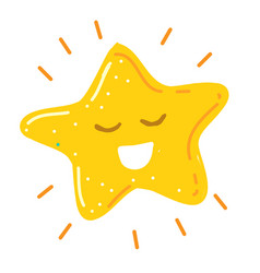 Shiny little happy star smiling vector