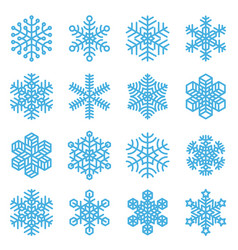 snowflake winter icon set vector image