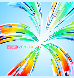 spread colors abstract scene on a blue vector image
