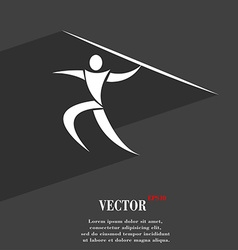 Summer sports Javelin throw symbol Flat modern web vector
