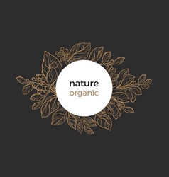 template nature circle black vector image