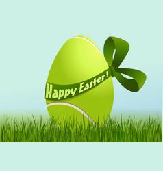 Tennis Easter egg vector image