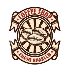vintage coffee shop emblem design elements vector image