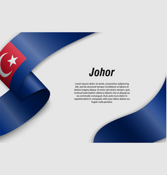 waving ribbon or banner with flag state of vector image