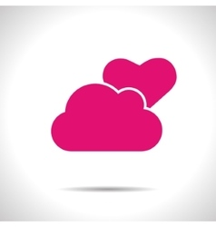 Weather icon pink partly cloudy eps10 vector