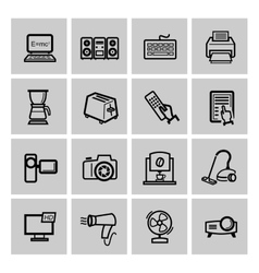 With set of electronic devices vector